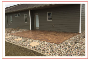Iowa Decorative Porch Concrete